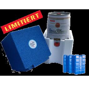 Bundesliga Bierkühler blau/weiß