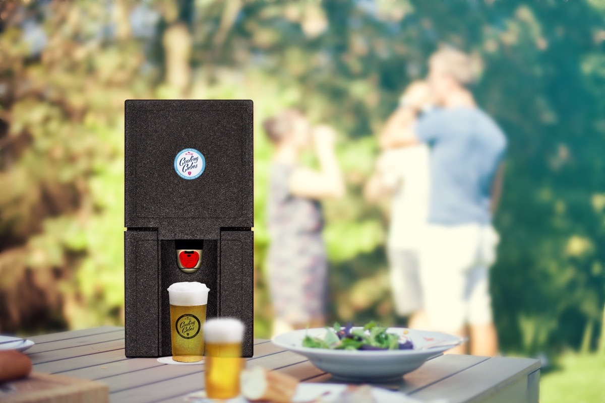 Cooling Cubes Tube beim Grillen