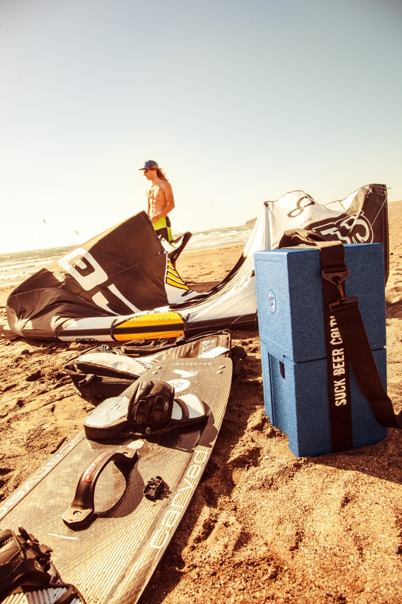 Cooling Cubes Marius Hoppe am Strand