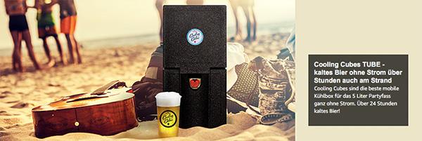 Cooling Cubes - Die beste mobile Kühlbox für 5 Liter Partyfässchen