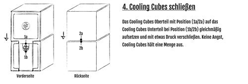 Cooling Cubes wieder schließen
