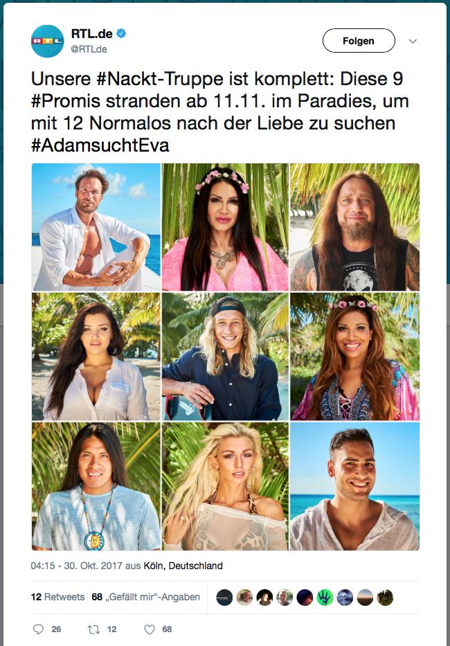 Adam sucht Eva 2017 - Die Kandidaten