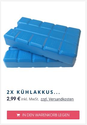 die passenden Kühlakkus für Cooling Cubes
