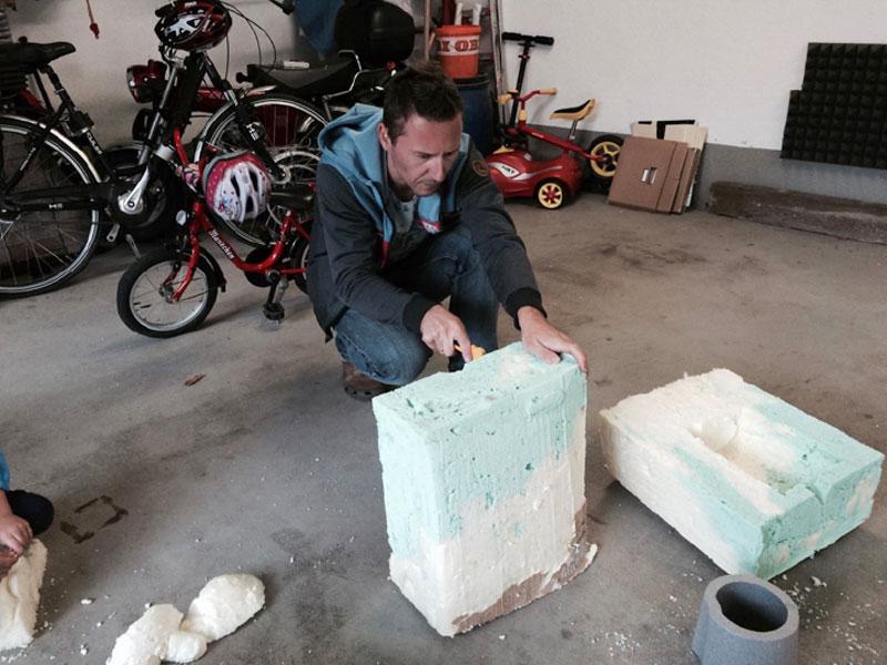 Erster geschäumter Cooling Cubes mit 5-Liter-Fass