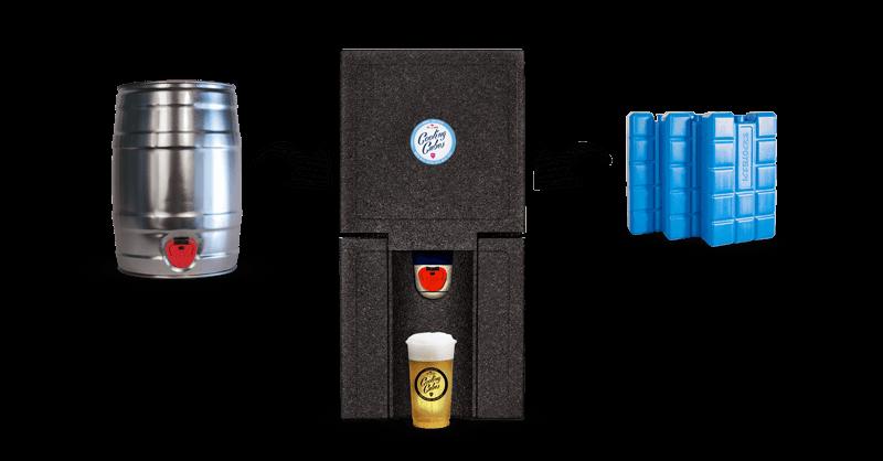 Cooling Cubes Kühlbox mit 5-Liter-Partyfass und Kühlakkus
